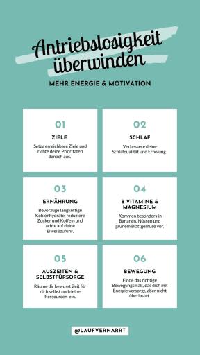 Leidest du manchmal unter Antriebslosigkeit und fehlender #Energie? Dann kommen hier die besten Tipps für mehr #Motivation und Antrieb! #stressabbau #stressbewältigung #stress