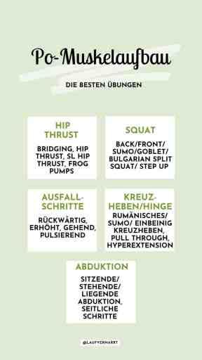 Das sind die besten #Übungen für den #Po - alle Tipps und einen gratis #Trainingsplan für den #Muskelaufbau für #Frauen hier!