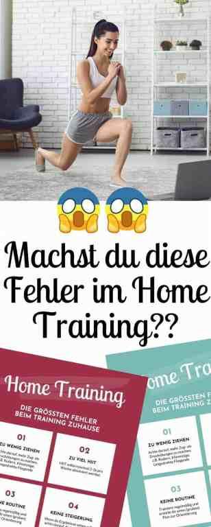 Die häufigsten Fehler beim #Training #zuhause - das solltest du unbedingt bei #Home #Workouts beachten! Die besten Tipps für #Muskelaufbau und #Fitness #zuhause.