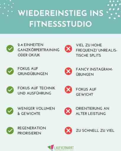 Wiedereinstieg ins Fitnessstudio nach langer Trainingspause - Do's & Don'ts