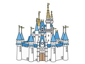 シンデレラ城のイラスト(イラストACフリー素材より)