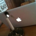 Sad laptop accident