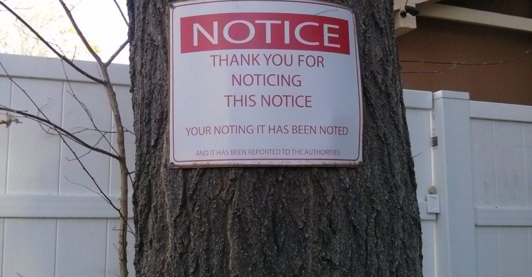 Thanks for noticing this notice