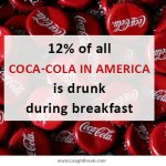 12% of all Coca-Cola in America is drunk during breakfast