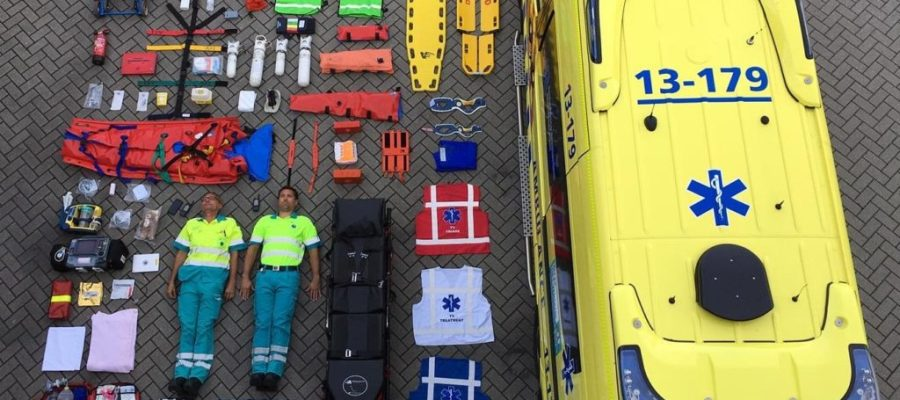 Contents of an ambulance