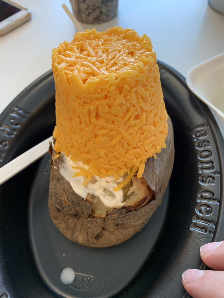 Over Loaded Cheese Potato