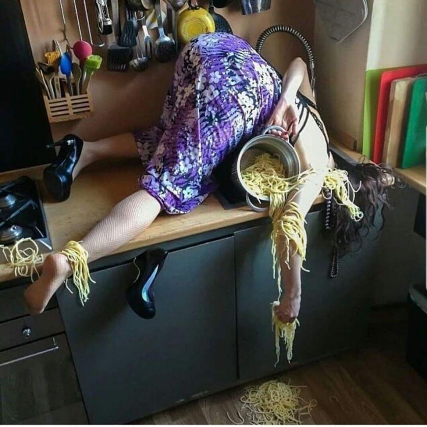 Crazy about spaghetti