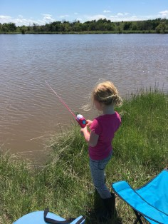 M with Barbie Fishing Pole
