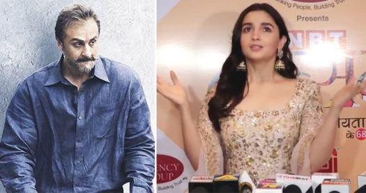 I think in my top 10 best film list, Sanju is high up there, says Ranbir's lady love Alia Bhatt