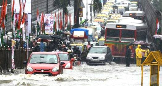 Heavy Rains Hitting Mumbai City, Navy Brought In For Rescue Of The People