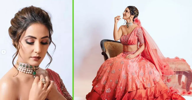Hina Khan Looks Ethereal in Her Photo Shoot after Ramp Walk at Bombay Times Fashion Week