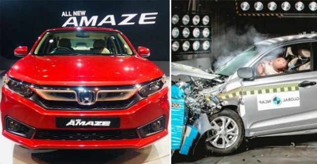 Global NCAP Crash Test: Honda Amaze Bags 4-Stars, Maruti Swift failed to meet protection criteria in 2018