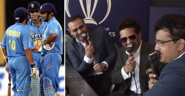 It was an incredibly nostalgic moment when Indian Legends Tendulkar, Sehwag and Ganguly reunited in the commentary box