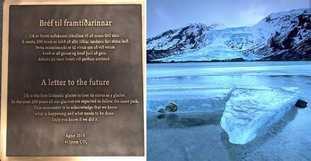 'Ok' isn't a glacier anymore; scientists commemorated it with a plaque