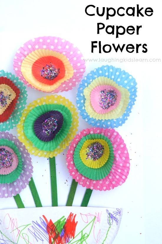Follow easy craft tutorials, find free printables and coloring pages, and get advice on basic crafting techniques to make fun kids' crafts with the family. Cupcake Paper Flowers Laughing Kids Learn