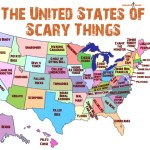 A Map United States That Shows Scariest Thing In Each State