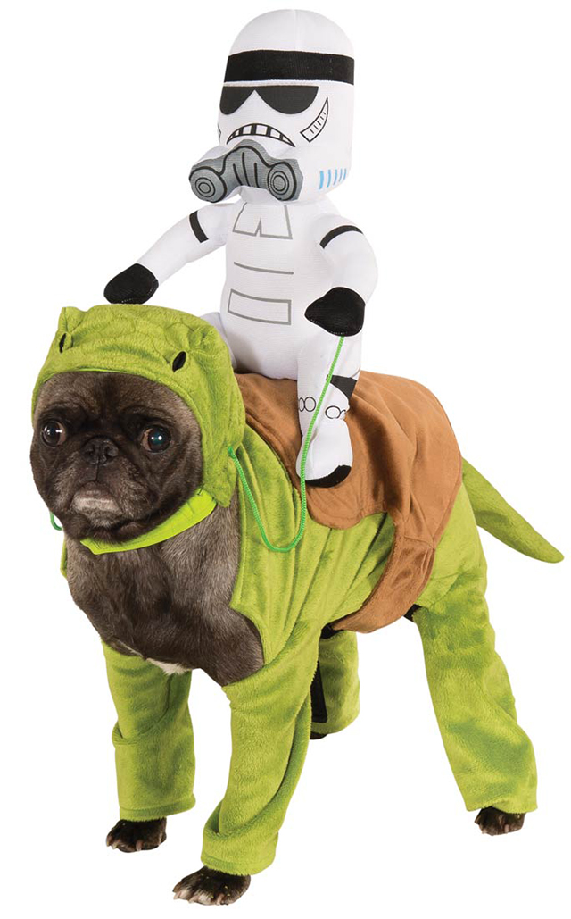 Star Wars Costumes For Dogs  sc 1 st  Laughing Squid & Humorous Dog Costumes That Look Like Things are Riding on Its Back