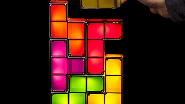 Tetris Stackable LED Desk Lamp - Eye Of Sauron Desk Lamp