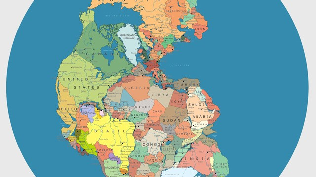 Modern Day World Map.A Brilliant Map Of The Supercontinent Pangaea With Modern Day