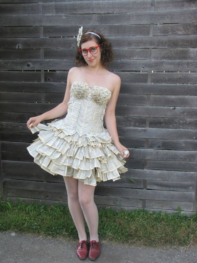 A Dress Made From the Pages of an Old Thesaurus