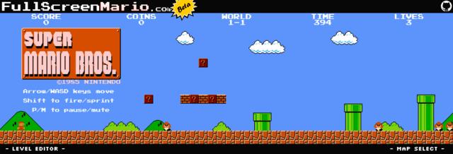 Super Mario Bros Level 11 Map