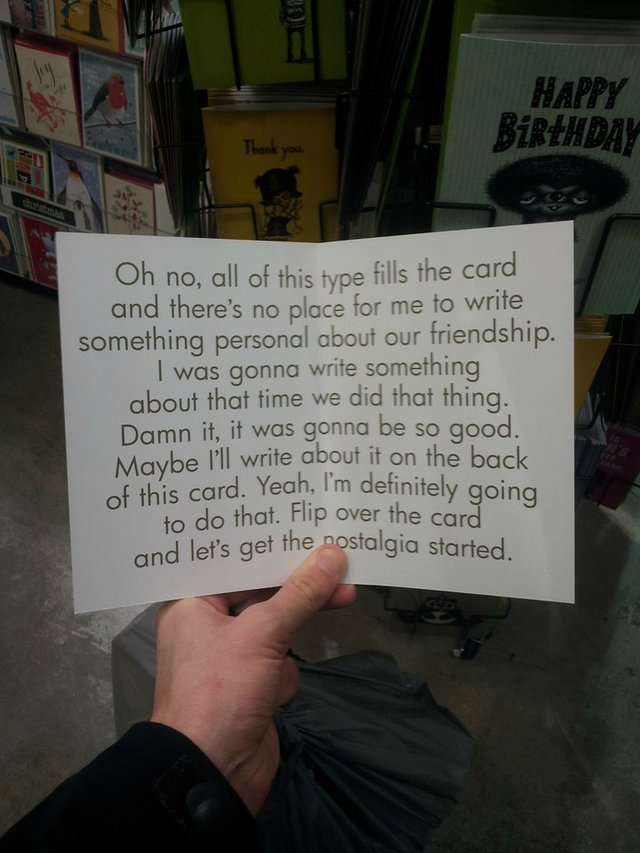 A Funny Birthday Card For When You're Not Sure What To Write