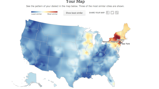 Interactive Map Of North American English Dialects - Us dialect map