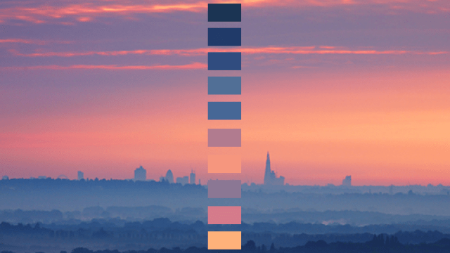 Color Palettes Derived From Nature Photography