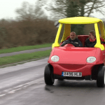 Man Builds an Adult-Sized, Street-Legal Version of the Iconic Little Tikes Cozy Coupe Car