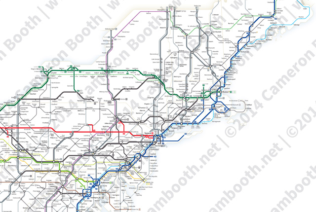 The us interstate highway system, known officially as the dwight d. A Simplified Map Of Every Interstate And Us Highway