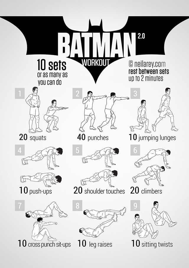 visual workout posters inspired