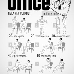 Office Chair Workouts For Abs Cheap Covers Ireland Visual Workout Posters Inspired By Popular Movies, Tv Shows, And Video Games