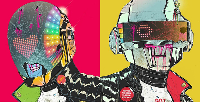 Pop Punk Inspired Bedroom: Daft Punk Deux, The Second Annual Art Show Inspired By
