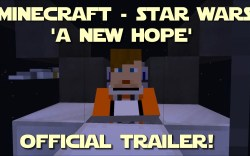 The Beginning Of Star Wars Episode Iv A New Hope Other Iconic Scenes Recreated In Minecraft