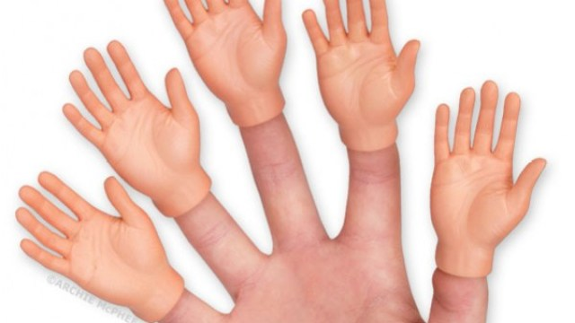 ba1f5f81e Finger Hands, Creepy Tiny Human Hand Finger Puppets by Archie McPhee