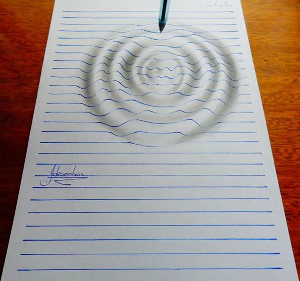 3d Line Drawings : Remarkable d illusion drawings by nagai hideyuki