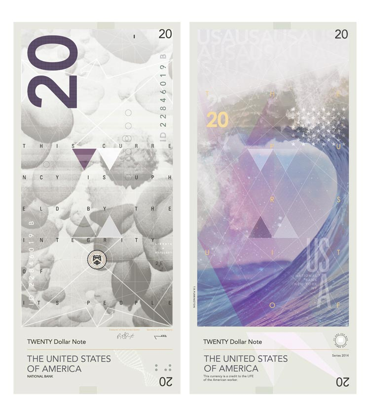 An Ultra-Modern Design Proposal for United States Dollar Banknotes