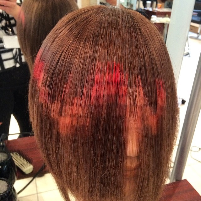 This is a photo of Inventive Pixel Hair Coloring