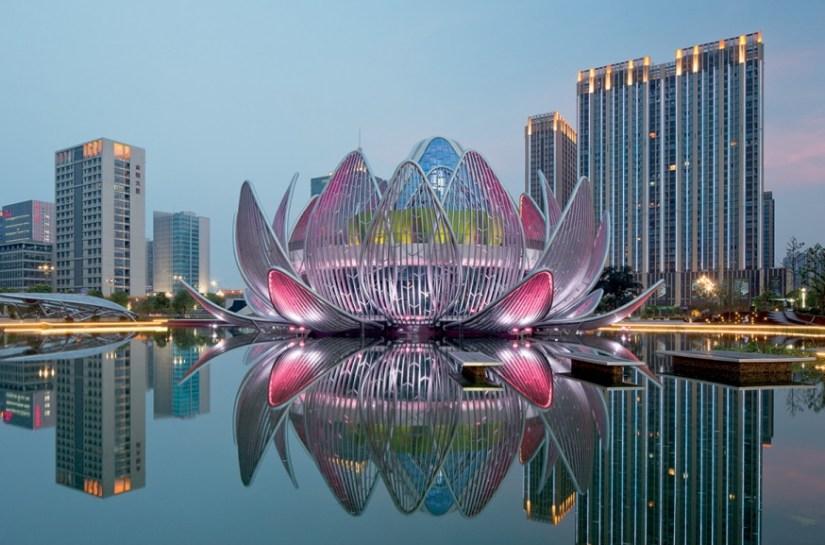 Lotus Building Shape Like a Flower