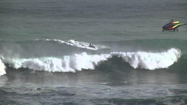 GoPro Video Of Surfer Brett Barley Taking On A Triple Barrel Wave - Surfing inside 27 second long barrel wave