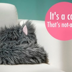 Stuffed Animal Chair Seat Lifts For Chairs Not-a-cat, A Unique That Looks Just Like Curled-up One-eared Sleeping Cat