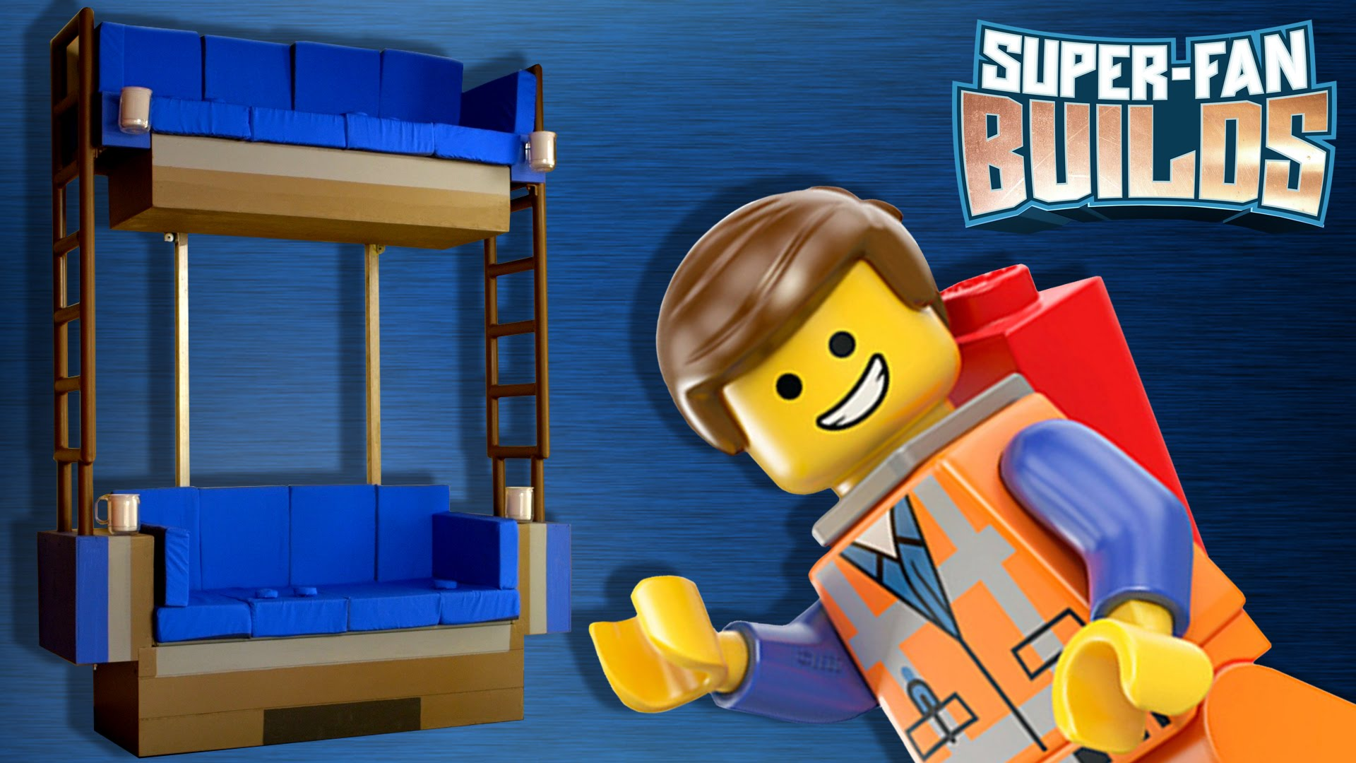 how to make a simple lego sofa outdoor fabric slipcover builders create the double decker couch from movie for family of super fans