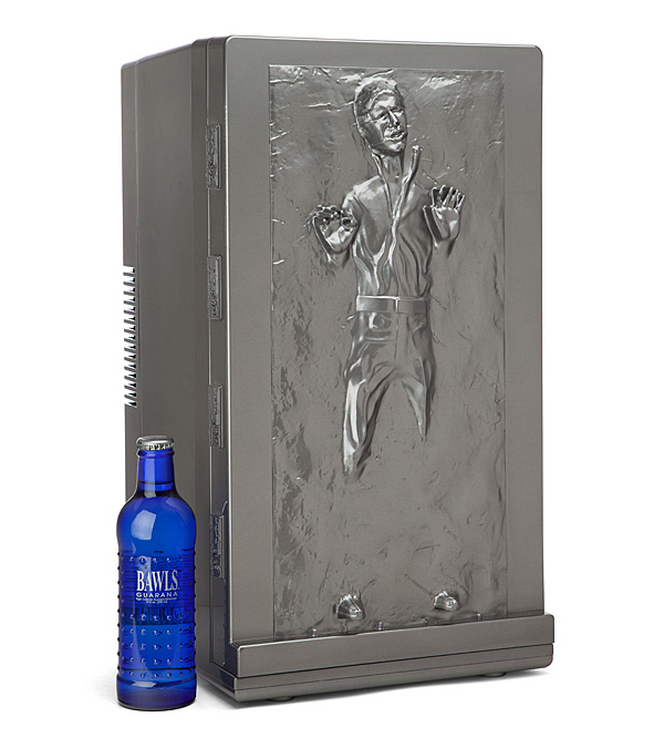 A Star Wars Han Solo Frozen In Carbonite Fridge That Can Hold Up To 18 Cans