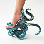 POLYPODIS, A Pair of Stunning High-Heeled Shoes That Entwines Each Foot in Tentacles