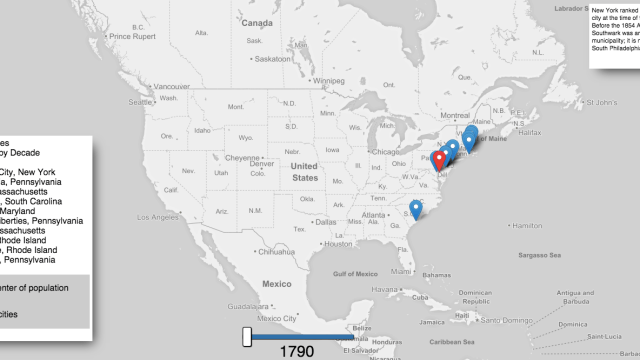 Clever Interactive US Maps That Plot The Most Commonly - Map united states cities
