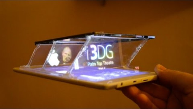 f57379d4605f68 New Design For Turning Smartphones and Tablets Into a 3D Hologram Projector  Using Three CD Jewel