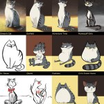 Artist Illustrates Her Own Cat In the Varying Styles of Famous Comics and Cartoons