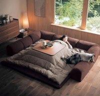 Kotatsu, A Traditional Japanese Floor Sofa Made Modern