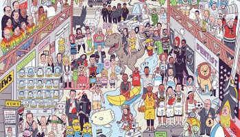 Here's to 2017, A Mashup Art Print of Memorable Pop Culture