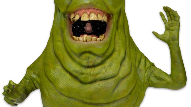 A Life Size Foam Replica Of Slimer From The 1984 Ghostbusters Film